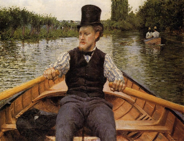 Boating Party, Oil by Gustave Caillebotte (1848-1894, France)