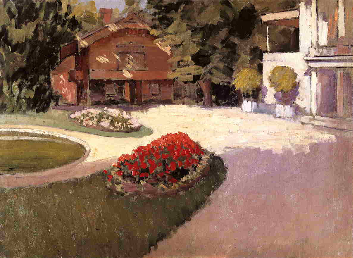Garden at Yerres, 1876 by Gustave Caillebotte (1848-1894, France) | Oil Painting | WahooArt.com