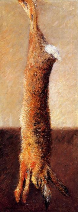 Hare, Oil On Canvas by Gustave Caillebotte (1848-1894, France)