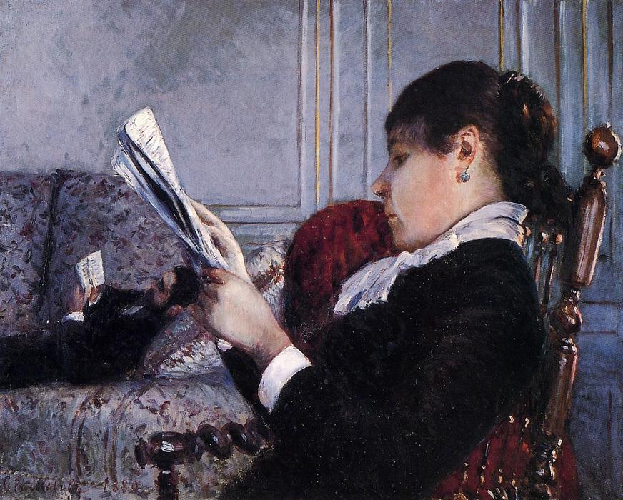 Interior, 1880 by Gustave Caillebotte (1848-1894, France) | Famous Paintings Reproductions | WahooArt.com