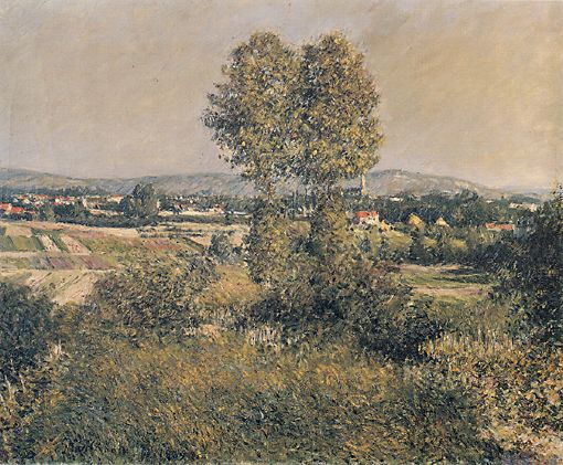 Landscape at Argenteuil, Oil On Canvas by Gustave Caillebotte (1848-1894, France)