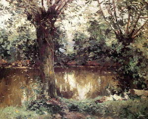 Gustave Caillebotte - Landscape, Banks of the Yerres