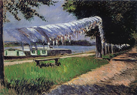 Laundry Drying, Oil On Canvas by Gustave Caillebotte (1848-1894, France)