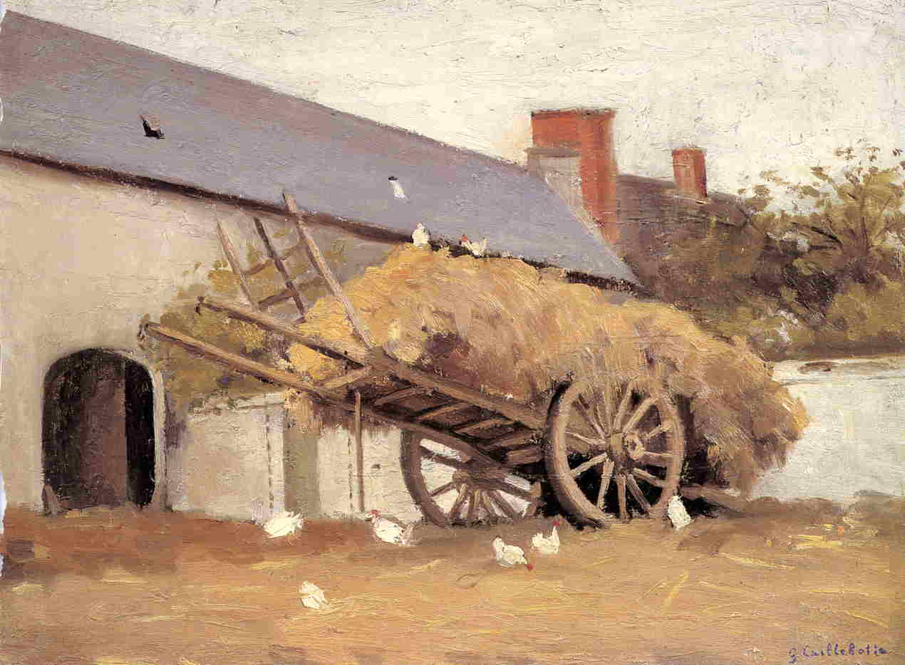 Loaded Haycart, Oil On Canvas by Gustave Caillebotte (1848-1894, France)