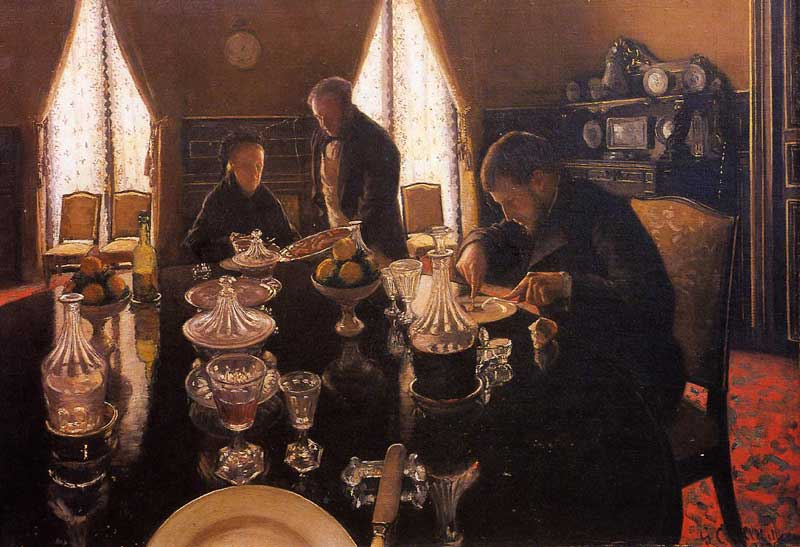 Luncheon, Oil On Canvas by Gustave Caillebotte (1848-1894, France)