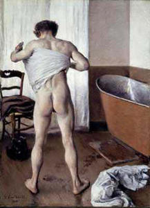 Order Art Reproductions | Man at His Bath, 1884 by Gustave Caillebotte (1848-1894, France) | WahooArt.com
