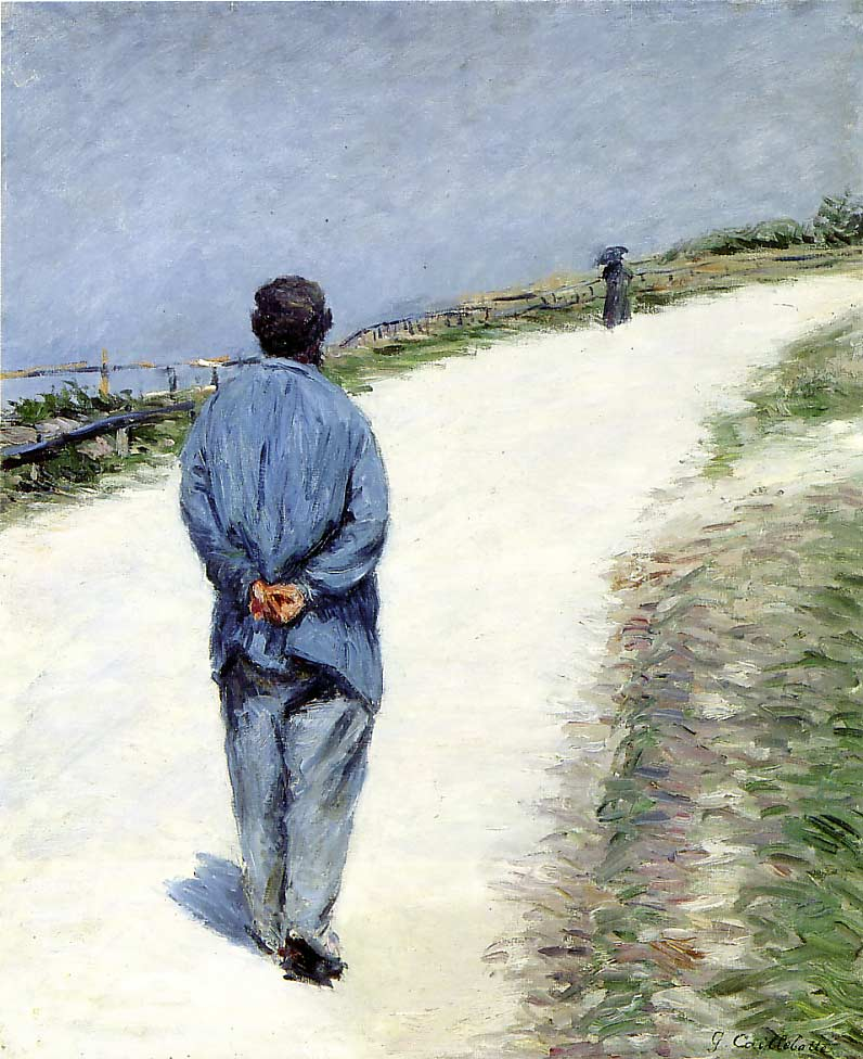 Man in a Smock aka Father Magloire on the Road between Saint-Clair and Etretat by Gustave Caillebotte (1848-1894, France) | WahooArt.com