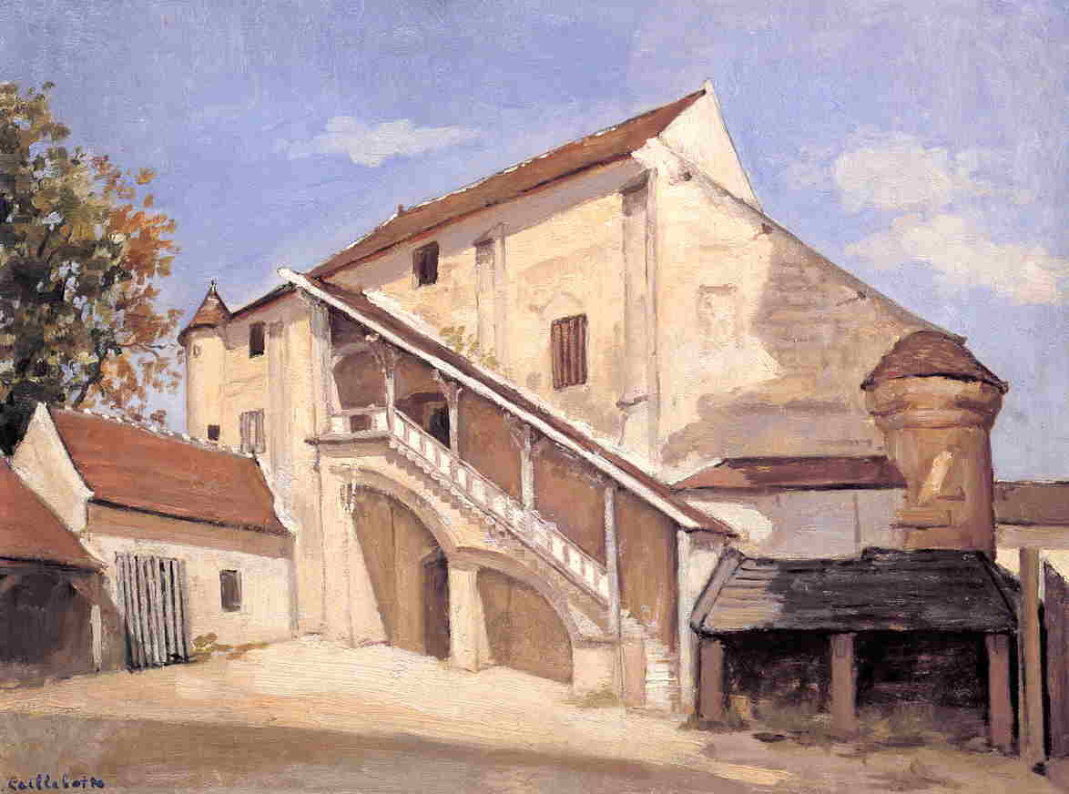 Meaux. Effect of Sunlight on the Old Chapterhouse, Oil by Gustave Caillebotte (1848-1894, France)
