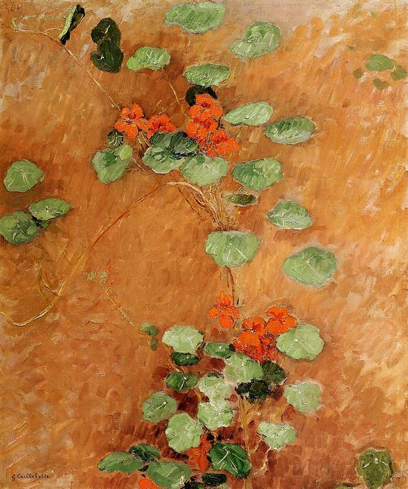 Nasturtiums, 1892 by Gustave Caillebotte (1848-1894, France) | Famous Paintings Reproductions | WahooArt.com