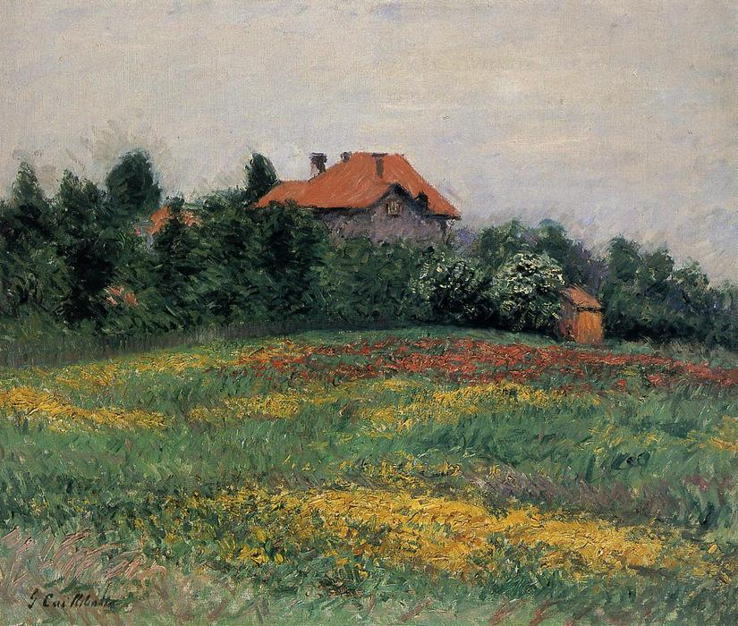 Norman Landscape, 1884 by Gustave Caillebotte (1848-1894, France) | Art Reproduction | WahooArt.com