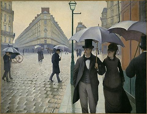 Paris street, Rainy Day, Oil On Canvas by Gustave Caillebotte (1848-1894, France)