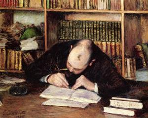 Gustave Caillebotte - Portrait of a Man Writing in His Study