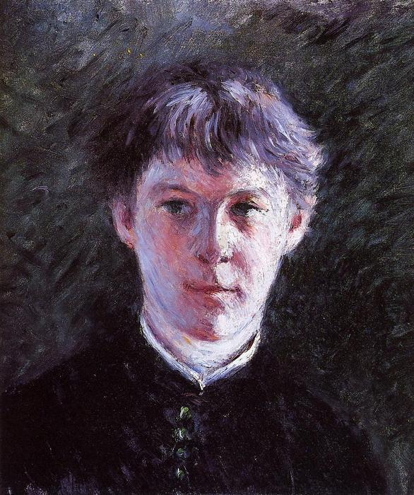 Portrait of a Schoolboy, Oil On Canvas by Gustave Caillebotte (1848-1894, France)