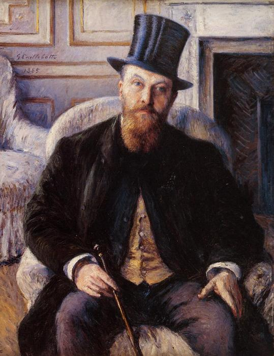 Portrait of Jules Dubois, Oil On Canvas by Gustave Caillebotte (1848-1894, France)