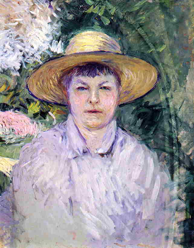Portrait of Madame Renoir, 1888 by Gustave Caillebotte (1848-1894, France) | WahooArt.com