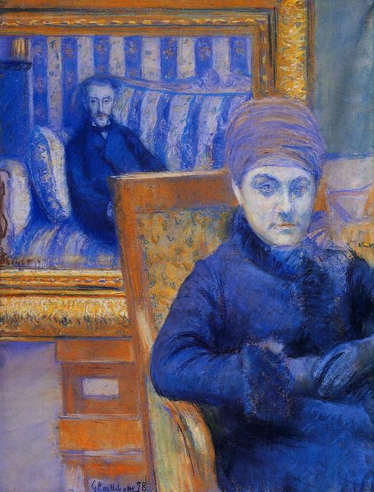 Portrait of Madame X..., Pastel by Gustave Caillebotte (1848-1894, France)