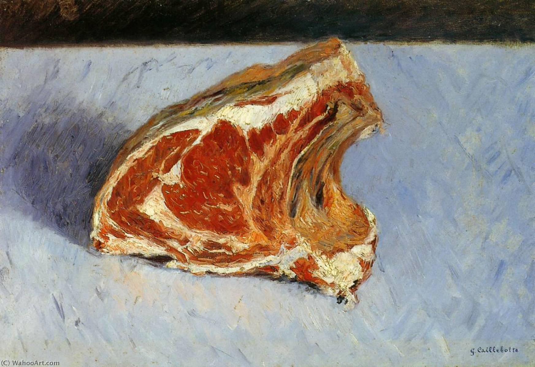 Rib of Beef, 1882 by Gustave Caillebotte (1848-1894, France) | WahooArt.com