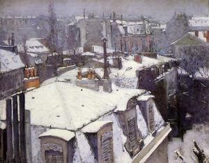 Gustave Caillebotte - Rooftops Under Snow