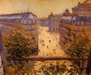 Gustave Caillebotte - Rue Halevy, Balcony View