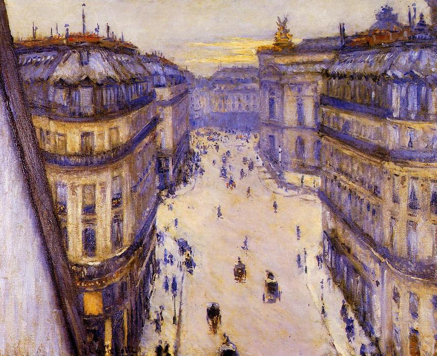 Rue Halevy, Seen from the Sixth Floor, Oil On Canvas by Gustave Caillebotte (1848-1894, France)