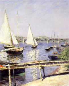 Gustave Caillebotte - Sailing Boats at Argenteuil