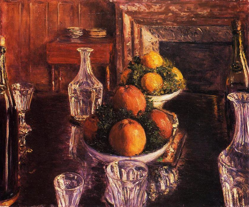 Still Life, Oil On Canvas by Gustave Caillebotte (1848-1894, France)