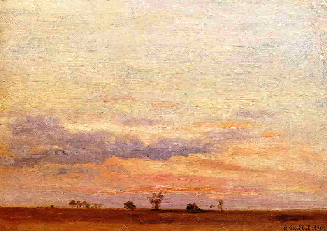 The Briard Plain, Oil On Canvas by Gustave Caillebotte (1848-1894, France)