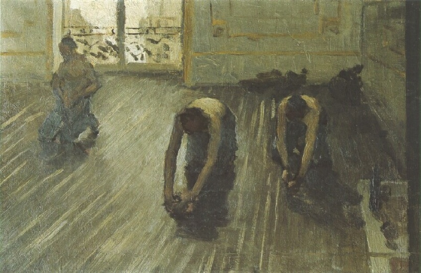 The Floor Scrapers (study) 02 by Gustave Caillebotte (1848-1894, France) | Painting Copy | WahooArt.com