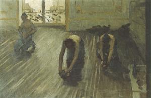 Gustave Caillebotte - The Floor Scrapers (study) 02