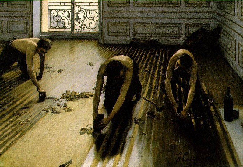 The Floor Scrapers aka The Floor Strippers by Gustave Caillebotte (1848-1894, France) | Famous Paintings Reproductions | WahooArt.com