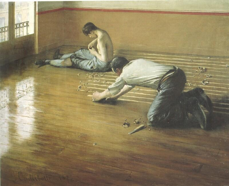 The Floor Scrapers, 1876 by Gustave Caillebotte (1848-1894, France) | Paintings Reproductions Gustave Caillebotte | WahooArt.com