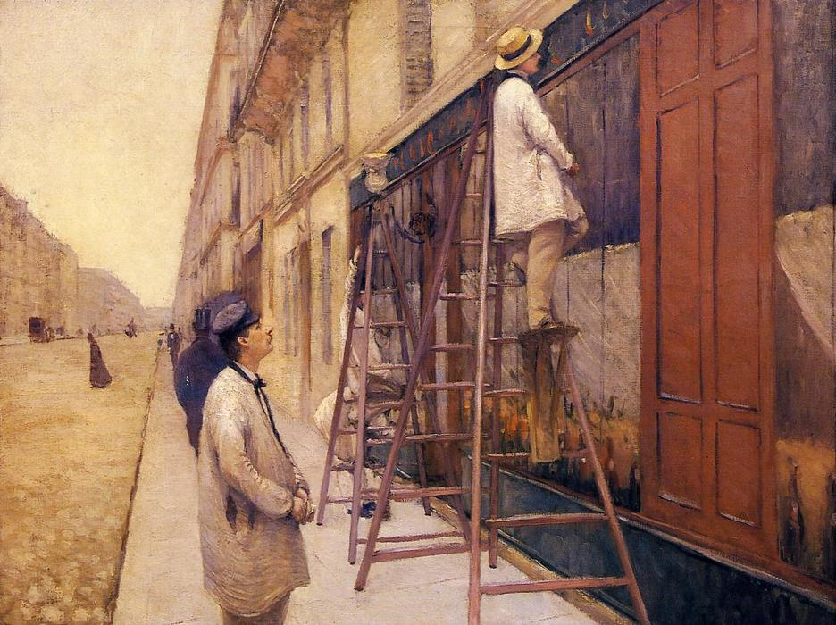 The House Painters, Oil On Canvas by Gustave Caillebotte (1848-1894, France)