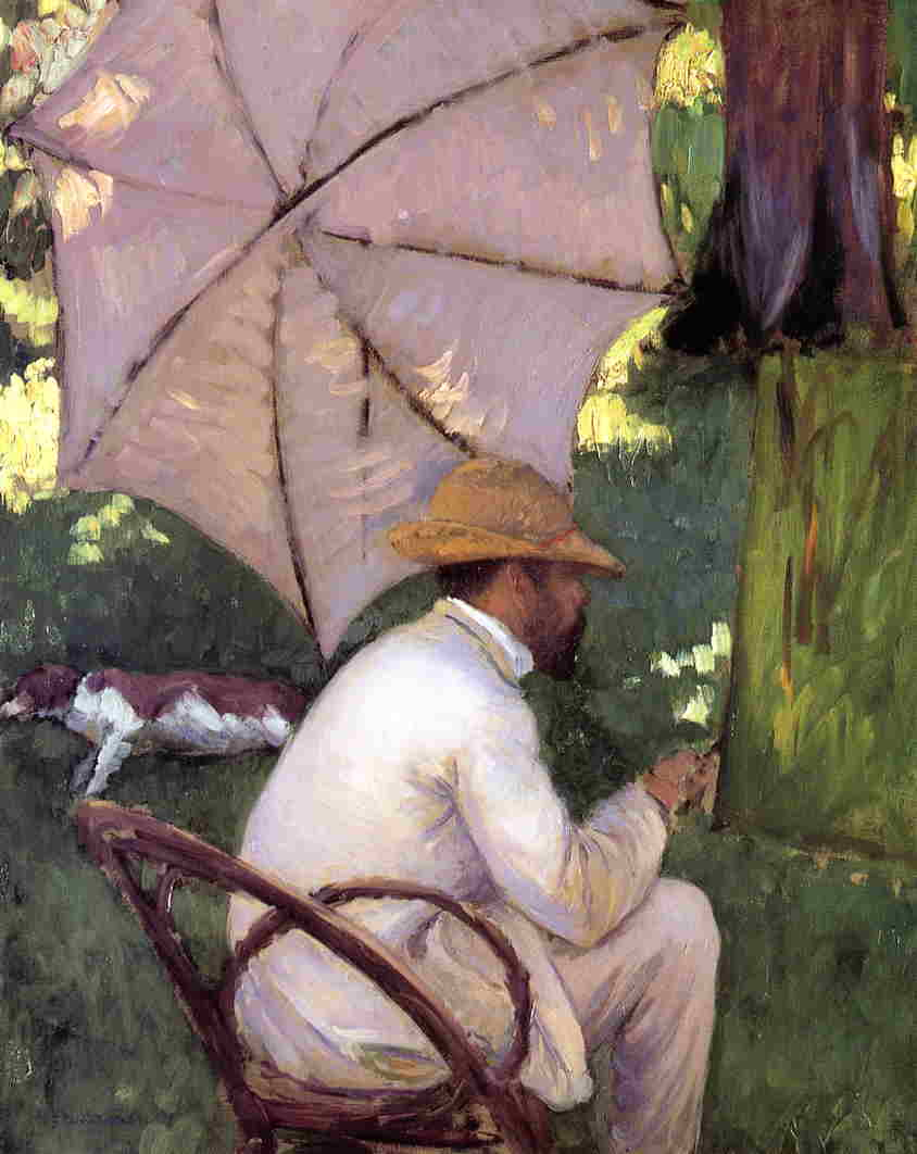 The Painter under His Parasol, Oil On Canvas by Gustave Caillebotte (1848-1894, France)