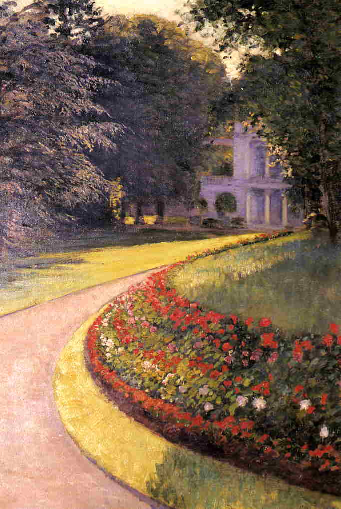 The Park at Yerres, Oil On Canvas by Gustave Caillebotte (1848-1894, France)