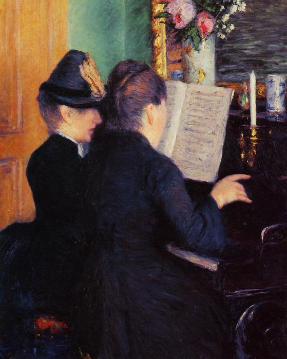 The Piano Lesson, Oil On Canvas by Gustave Caillebotte (1848-1894, France)