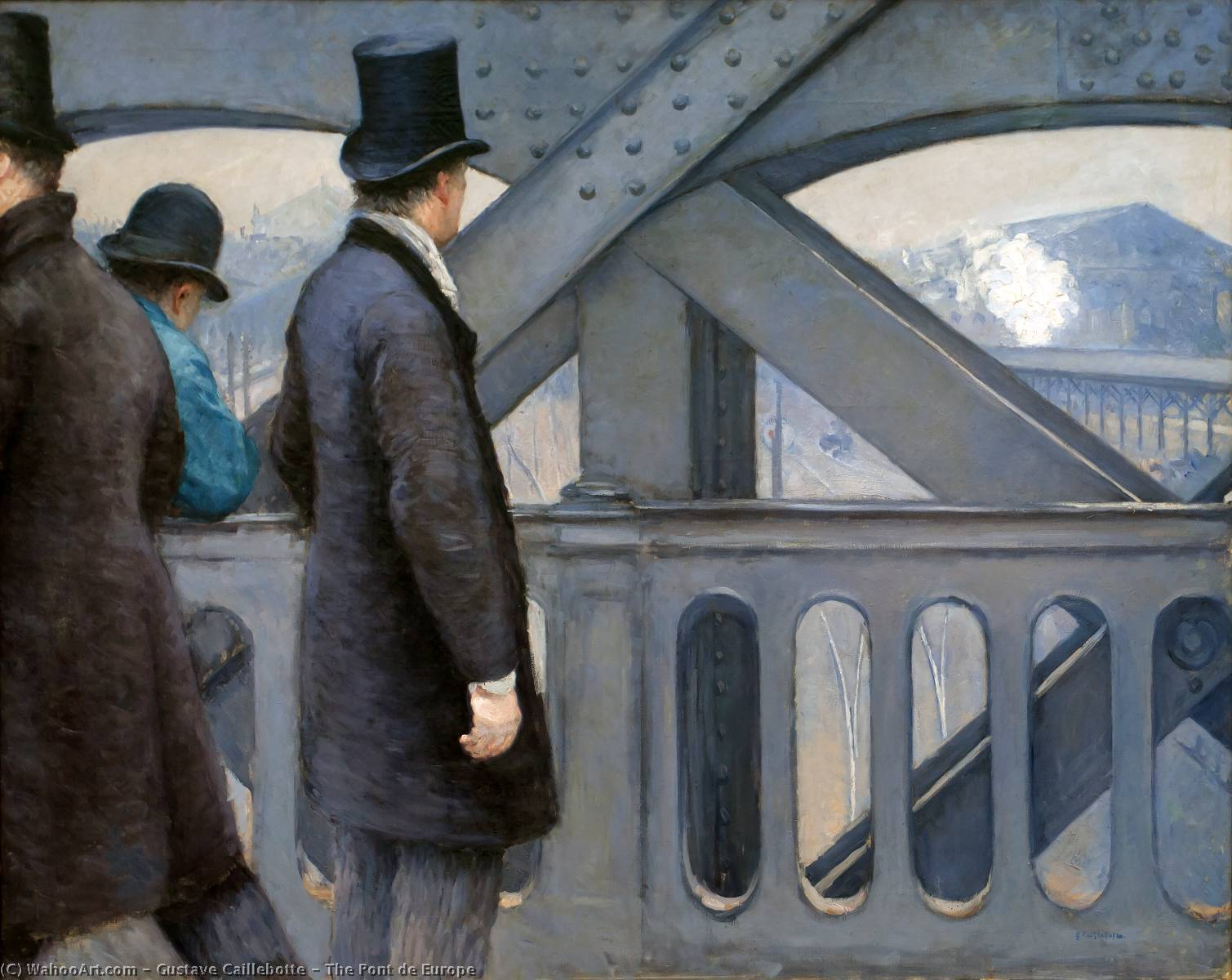 The Pont de Europe, Oil by Gustave Caillebotte (1848-1894, France)