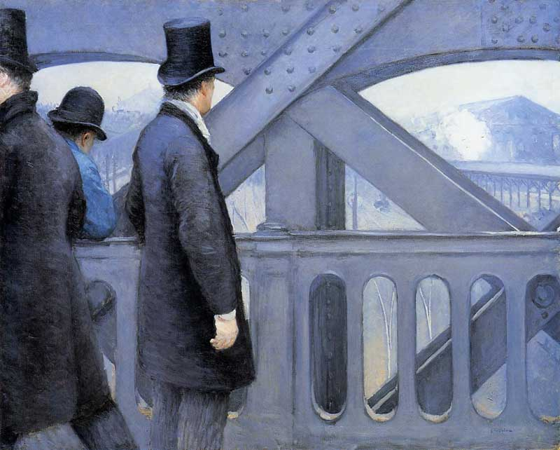 The Pont de Europe, 1876 by Gustave Caillebotte (1848-1894, France) | Famous Paintings Reproductions | WahooArt.com