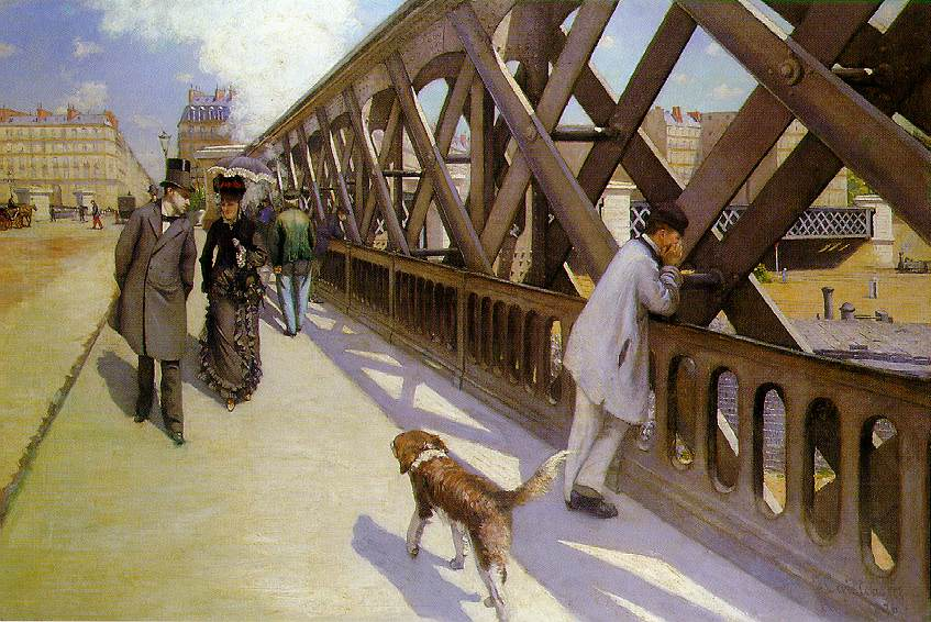 Order Poster On Canvas The Pont du Europe by Gustave Caillebotte (1848-1894, France) | WahooArt.com | Order Fine Art Print The Pont du Europe by Gustave Caillebotte (1848-1894, France) | WahooArt.com