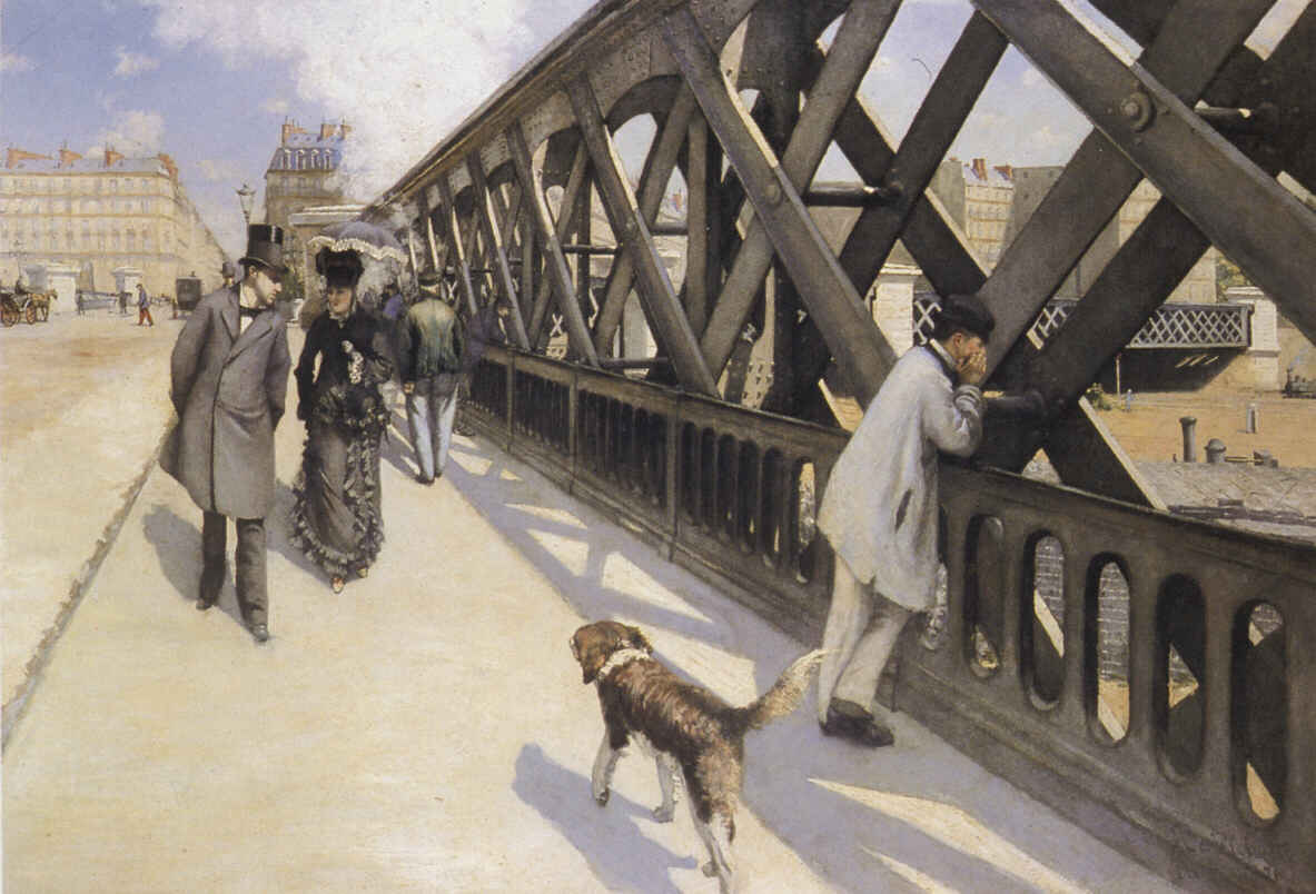 The Pont du Europe, Oil by Gustave Caillebotte (1848-1894, France)