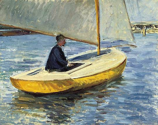 The Yellow Boat, 1891 by Gustave Caillebotte (1848-1894, France) | Museum Quality Reproductions | WahooArt.com