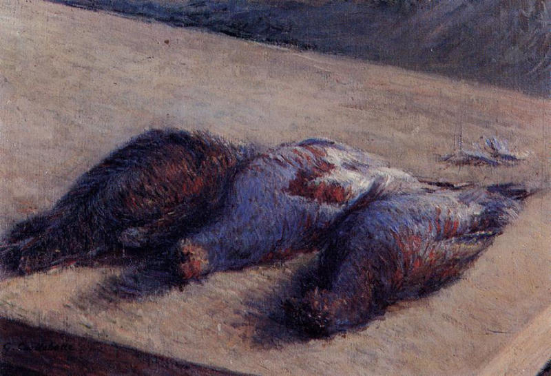Three Partridges on a Table, 1880 by Gustave Caillebotte (1848-1894, France) | WahooArt.com