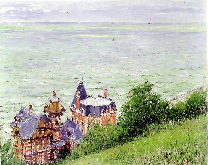 Villas at Trouville, Oil by Gustave Caillebotte (1848-1894, France)