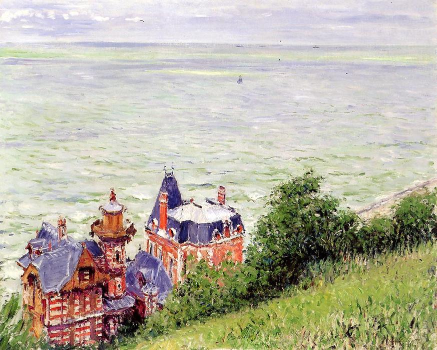 Villas at Trouville, 1884 by Gustave Caillebotte (1848-1894, France) | Painting Copy | WahooArt.com