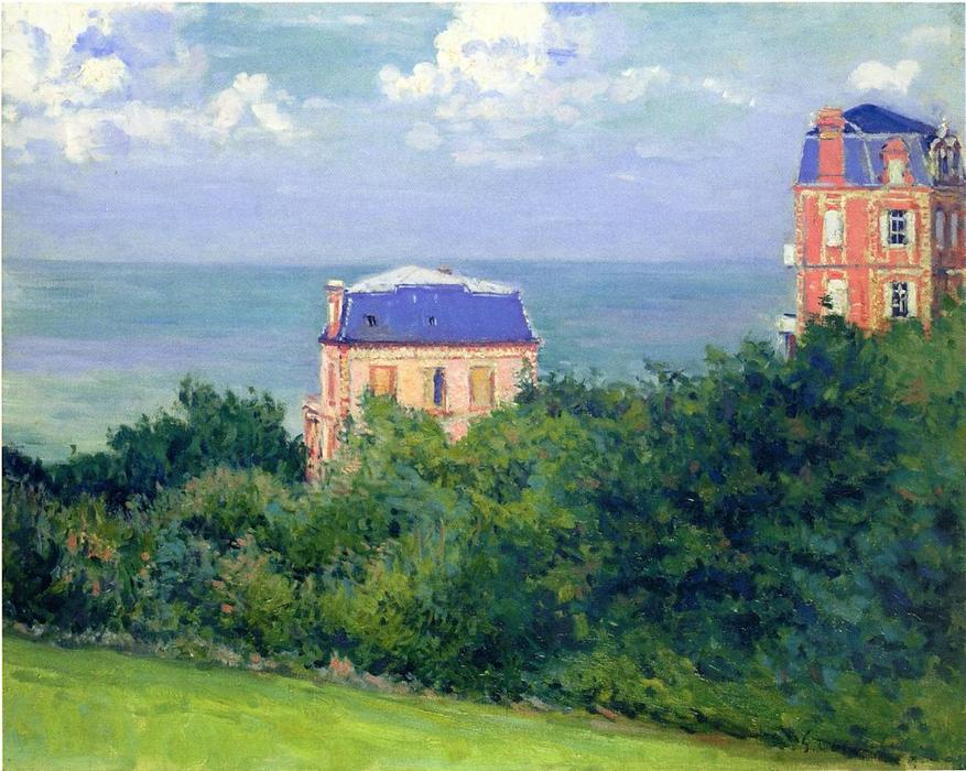 Villas at Villers sur Mer, Oil On Canvas by Gustave Caillebotte (1848-1894, France)
