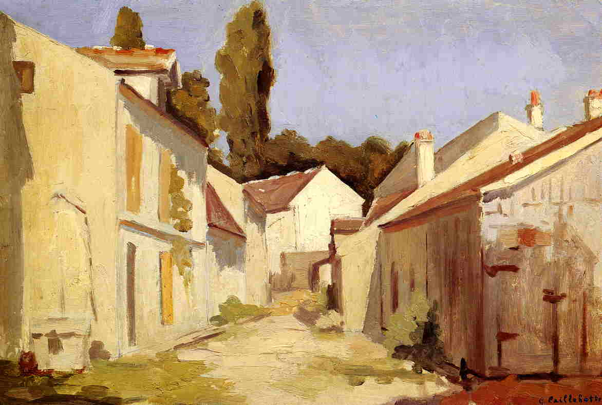 Yerres, Close of the Abbesses, Oil On Panel by Gustave Caillebotte (1848-1894, France)
