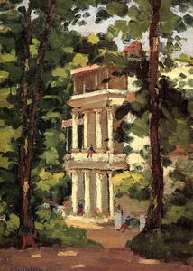Gustave Caillebotte - Yerres, Colonnade of the -Casin-