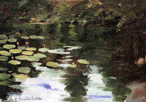 Gustave Caillebotte - Yerres, on the Pond, Water Lilies
