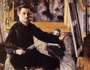 Gustave Caillebotte - Self Portrait with Easel -
