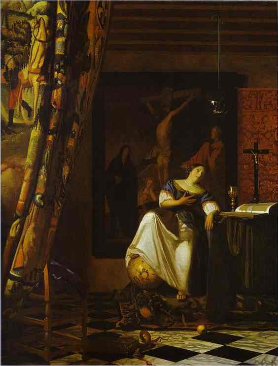 Allegory of Faith by Jan Vermeer (1632-1675, Netherlands) | Museum Quality Reproductions | WahooArt.com