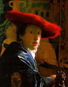 Jan Vermeer - The Girl with the Red Hat [c. 1665]